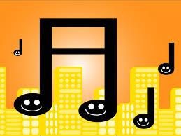 comic music ppt backgrounds design music orange templates