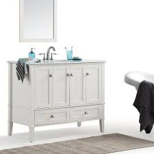 chelsea 42 inch bath vanity in soft white with white quartz marble