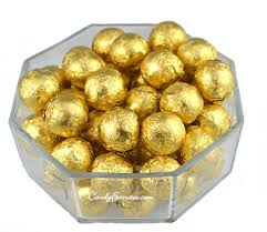 wrapped gold chocolate balls 2 lb favorites