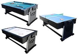triumph sports 3 in 1 rotating game table amazon com 3 in 1 rotating multi game table pool air hockey