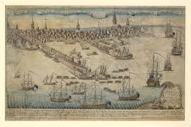 Walking Map Boston by Paul Revere Collection At The American Antiquarian Society