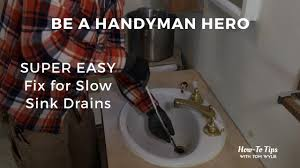 super easy fix for slow sink drains youtube