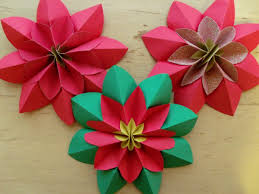 how to fold a poinsettia flower origami poinsettia flower