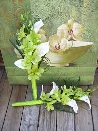 calla bouquets tropical orchid bouquets for chenille s bridesmaids white calla