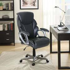 serta black bonded leather office managers chair black 47951 ebay