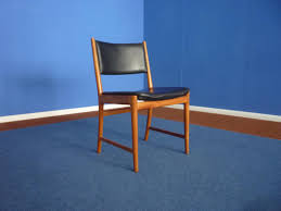 Blue Leather Dining Chairs by Vintage Danish Teak And Leather Dining Chairs By Kai Lyngfeldt