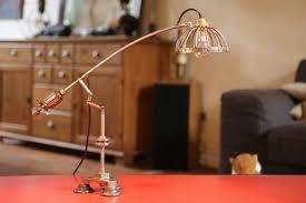 bureau recup création luminaire unique le de bureau articulé récup métal et