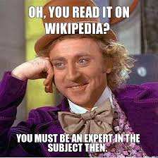 Wikipedia Meme - wikipedia follow up the students proved my point kim daniel s