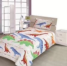 Childrens Duvet Cover Sets Uk Children U0027s Kids Cot Bed Size Dinosaur Design Boys Duvet Cover And
