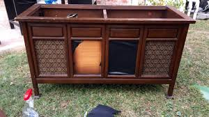 Antique Record Player Cabinet Chalk Paint Project Vintage Record Player Refurbishment Life