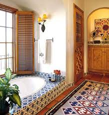mexican tile bathroom designs mexican tiles and arched details give this bath a distintly