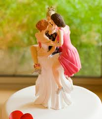 woman cake topper wedding cake topper depicting one with several women stock