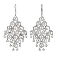 chandelier earings diamond gold chandelier earrings for sale at 1stdibs