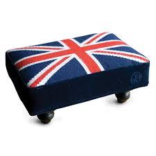 British Flag Area Rug Jonathan Adler British Flag Needlepoint Stool In All Furniture