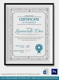 blue and grey color scheme professional editable certificate of attendance template sample