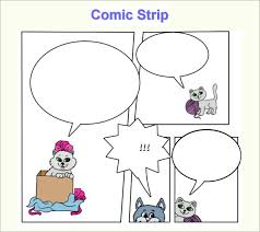 printable comic strip template for students promotion follow up