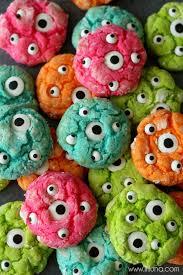 delicious gooey monster cookies perfect for halloween lilluna