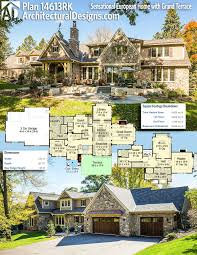 plan 14613rk sensational european home with grand terrace