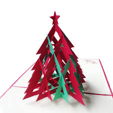 3d red u0026 green christmas tree handmade creative kirigami u0026 origami