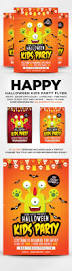 halloween party title print template graphicriver halloween kids party flyer 20663391