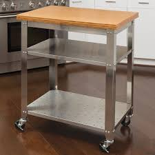 Red Barrel Studio Irene Kitchen Work Table Kitchen Cart With - Kitchen cart table