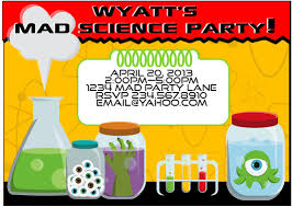 science birthday party invitations mickey mouse invitations