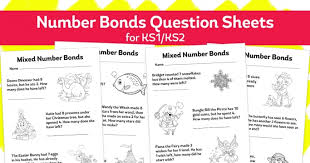 worksheet for ks1 addition and subtraction mixed number bonds