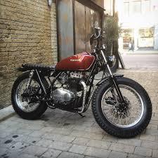 klassikkustoms u201c kawasaki z400 bratstyle u201d motorcycles cafe