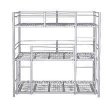 3 Tier Bunk Bed Modern Dormitory Hostels 3 Tier 3 Sleeper Steel Metal Bunk