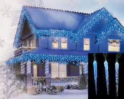 white led icicle lights amazon com set of 10 blue and white color changing led icicle