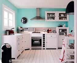 cuisine mur bleu decoration cuisine bleu