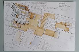 floor plan sketches ground floor plan hand render by magdalena sobula interior