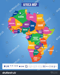 africa map color vector color map africa all objects stock vector 444266845