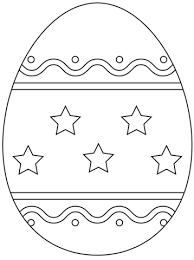 easter egg simple pattern coloring free printable