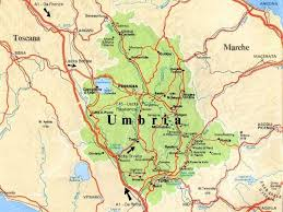 map of perugia bed and breakfast in casale how to reach us
