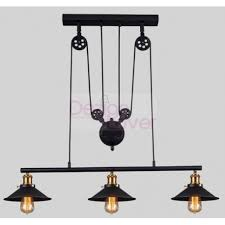 Pulley Pendant Light Industrial Pulley Pendant L With Edison Bulbs By Pottery
