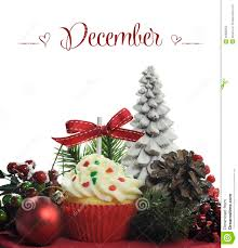 beautiful christmas holiday theme cupcake with seasonal flowers