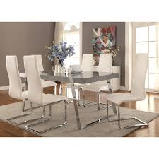Dining Room Set With Upholstered Chairs by Chair Logo Mango Dining Table Set With Fabric Upholstered Chairs