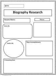 biography book report template pdf this graphic organizer can help students to organize their thoughts