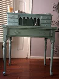 sold vintage distressed chalk painted desk in annie sloan duck
