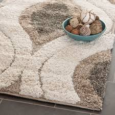 Ebay Area Rugs Safavieh Power Loomed Cream Smoke Shag Area Rugs Sg461 1179 Ebay