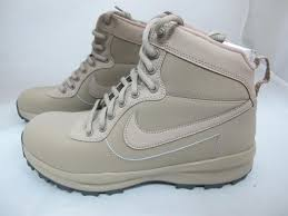 s shoes and boots size 9 nike manoadome mens 844358 200 khaki synthetic leather boots shoes