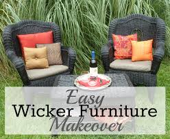 easy wicker furniture makeover from trash to treasure furniture