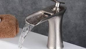 Single Hole Bathroom Sink Faucets Beelee Bl210d N Single Handle Single Hole Waterfall Bathroom Sink