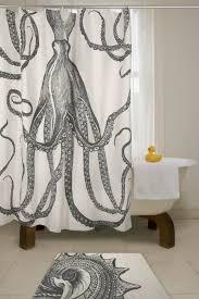 Bathtub Shower Curtain Ideas Black And White Shower Curtain Idea With Long Design And Unique