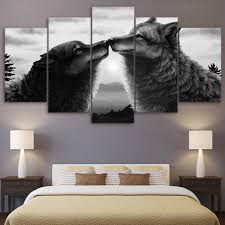 bedroom bedroom decor wolf website all about bedroom decoration full size of printed landscape picture 5 pieces abstract animal font b black b font font