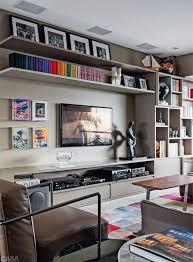 salas living room wall units salas lindas para reunir os amigos cozinhar e conversar casa