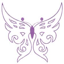 butterfly outline square hoop custom embroidery designs by