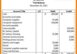 opening balance sheet template sample of trial balance in excel
