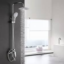 rain and waterfall shower head water saving hand shower bathroom